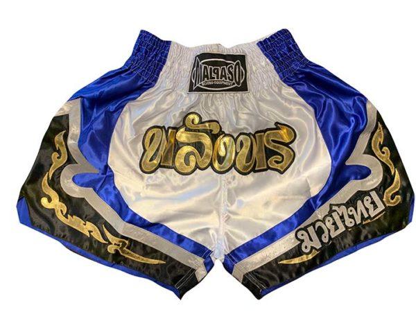 Malpaso Thai Box Shorts_Blau-Weiß-Schwarz